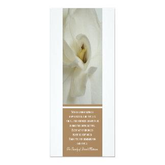 """Obrigado da simpatia do Gardenia você cartão do Convite 10.16"""" X 23.49cm"""