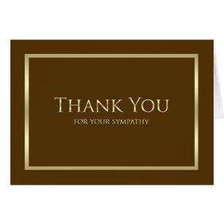 Obrigado da simpatia você cartão de nota - Brown c