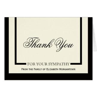 Obrigado da simpatia você cartões - creme clássico