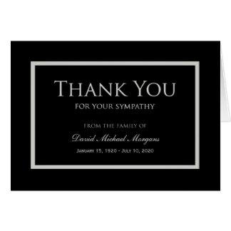 Obrigado da simpatia você preto e cinza do cartão