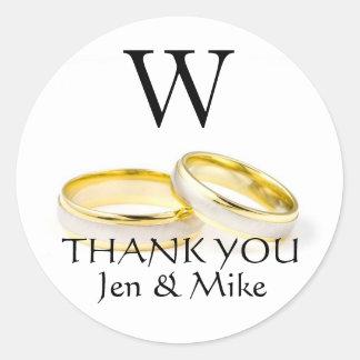 Obrigado das etiquetas do favor do casamento você adesivo