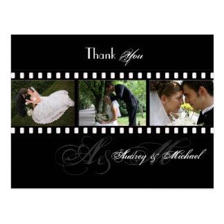 Obrigado das fotos do casamento de PixDezines Cartão Postal