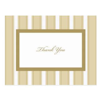 Obrigado de creme da simpatia da listra você cartã cartao postal