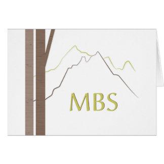 Obrigado de Mitzvah 2013 do bar dos MBS você notec Cartão De Nota