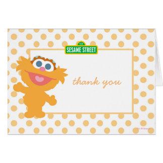 Obrigado do aniversário de Zoey do bebê você Cartão De Nota