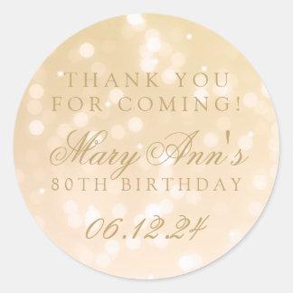 obrigado do aniversário do 80 você luzes da faísca adesivo