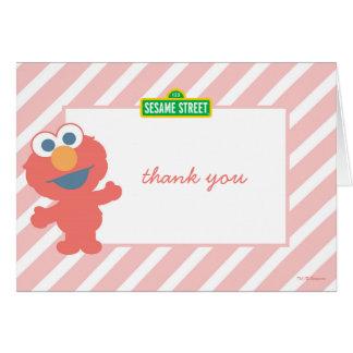 Obrigado do aniversário do bebê de Elmo você Cartão De Nota