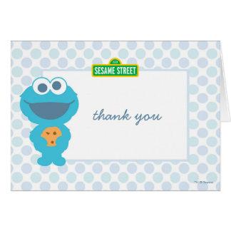 Obrigado do aniversário do bebê do monstro do cartão de nota