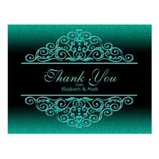 Obrigado do Aqua do brilho você Cartão Postal