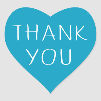 Obrigado do azul e do branco você amor do coração adesivo coração