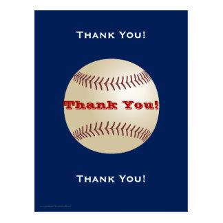 Obrigado do basebol você cartão cartão postal