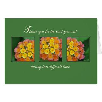 Obrigado do cartão do falecimento você rosas amare