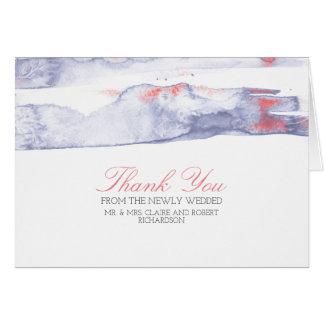 Obrigado do casamento de praia do Swash da Cartão