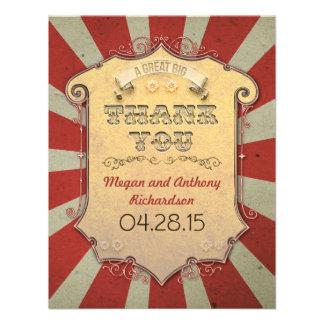 obrigado do casamento do carnaval você cartões convites personalizados