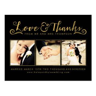 Obrigado do casamento do ouro você Script a foto Cartões Postais