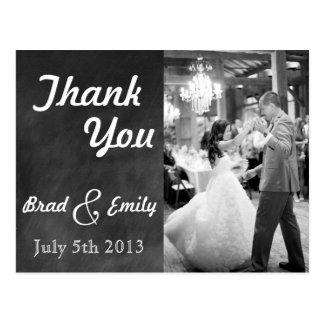 Obrigado do casamento do quadro você cartão