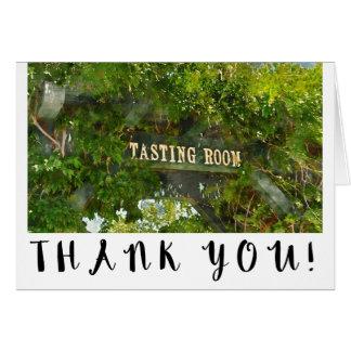 Obrigado do casamento do vinhedo e da adega da cartão comemorativo