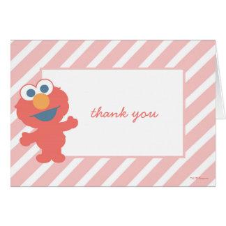 Obrigado do chá de fraldas de Elmo você Cartão De Nota