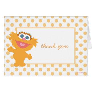 Obrigado do chá de fraldas de Zoe você Cartão De Nota