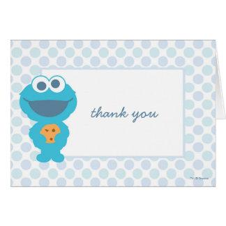 Obrigado do chá de fraldas do monstro do biscoito cartão