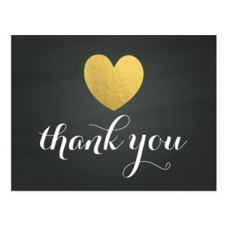 Obrigado do coração da folha de ouro você cartão cartão postal