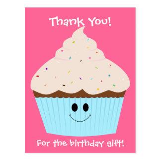 Obrigado do cupcake você cartão