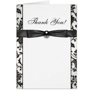Obrigado do damasco do traje de cerimónia você cartão de nota
