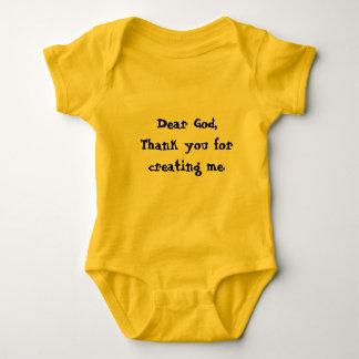 Obrigado do deus do Tshirt recém-nascido do bebê