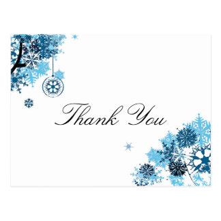 Obrigado do floco de neve você cartão