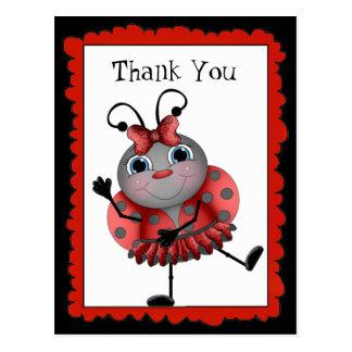 Obrigado do joaninha da dança você cartão cartão postal
