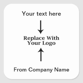 Obrigado do logotipo do negócio você etiquetas adesivo quadrado
