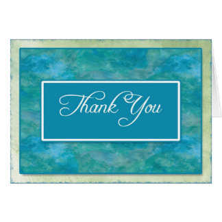 Obrigado do negócio do azul de pavão você notas cartão de nota