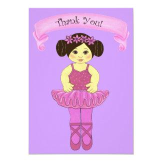 Obrigado do partido da bailarina/balé você cartões convite 12.7 x 17.78cm