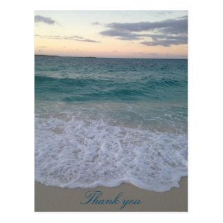 Obrigado do por do sol de Bahamas você cartão Cartão Postal