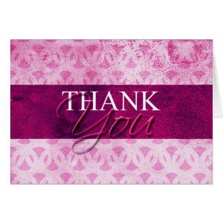 Obrigado do rosa quente você cartões