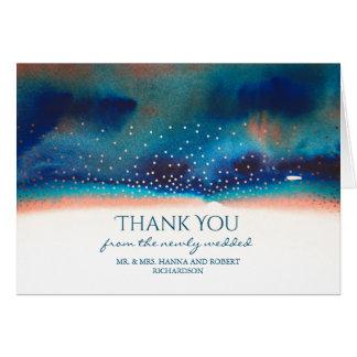 Obrigado do Swash da aguarela de turquesa e de Cartão