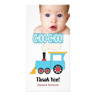 Obrigado do trem de Choo Choo você cartões com Cartão Com Foto