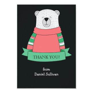Obrigado do urso polar você Notecard Convite 8.89 X 12.7cm