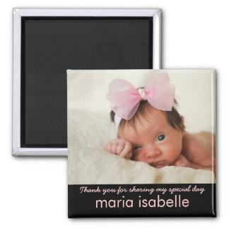 Obrigado doce da lembrança da foto do bebê você ím ímã quadrado