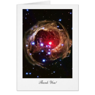 Obrigado - estrela Supergiant vermelha Monocerotis Cartões
