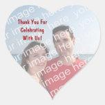 Obrigado! Etiquetas do coração da foto Adesivos Em Forma De Corações