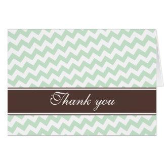 Obrigado feito sob encomenda da listra verde de cartão de nota