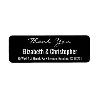 Obrigado feito sob encomenda do casamento você etiqueta endereço de retorno