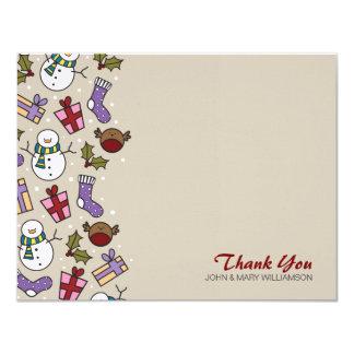 Obrigado festivo bonito dos caráteres você cartão convite 10.79 x 13.97cm