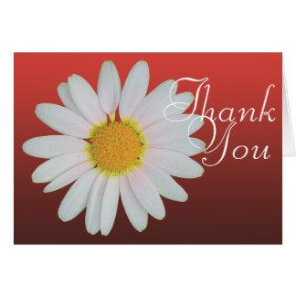 Obrigado floral chique da foto colorida da cartão de nota