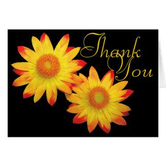 Obrigado floral chique da foto colorida de cartão de nota