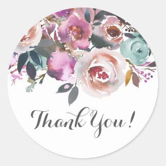 obrigado floral cor-de-rosa do boho você etiquetas
