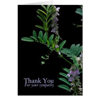 Obrigado floral da simpatia do índigo 2 você cartão de nota