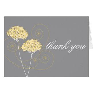 Obrigado floral delicado você cartão de nota