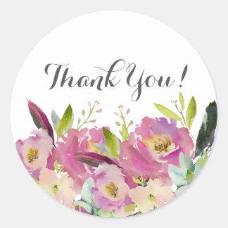 obrigado floral do boho você etiquetas